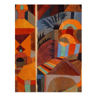 Colorful Cubism Paul Klee Abstract Post Cards
