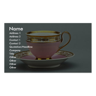 Colorful cup and saucer , Berlin, Germany Business Cards