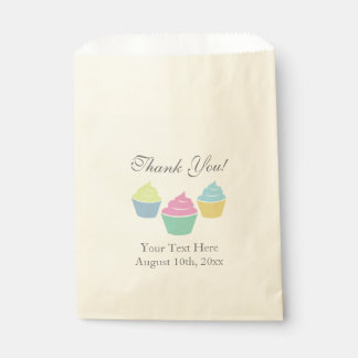Colorful cupcake baby shower party favor bags favour bags