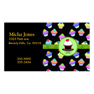 Colorful Cupcake Chaos Pack Of Standard Business Cards