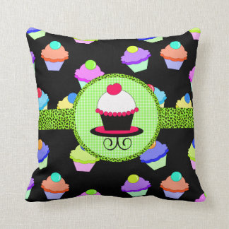 Colorful Cupcake Chaos Cushion