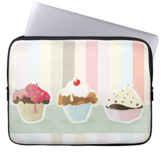 colorful cupcake computer sleeves
