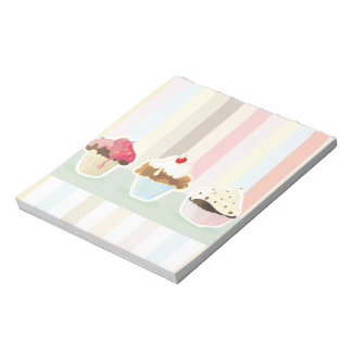 colorful cupcake notepad