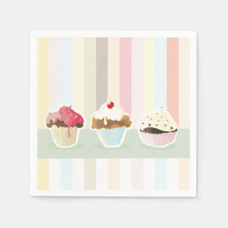 colorful cupcake paper napkins