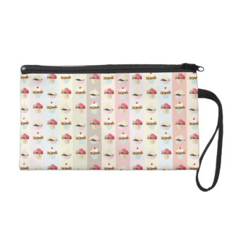 colorful cupcake wristlet clutches