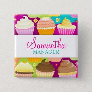 Colorful Cupcakes Name Badge