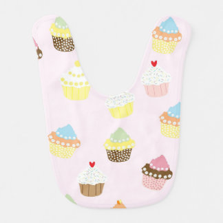 Colorful Cupcakes Pattern Bibs