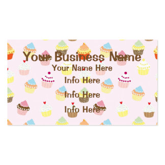 Colorful Cupcakes Pattern Pack Of Standard Business Cards