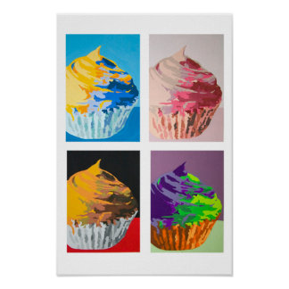 Colorful Cupcakes Poster