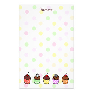 Colorful Cupcakes Stationery