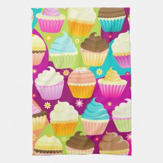 Colorful Cupcakes Tea Towel