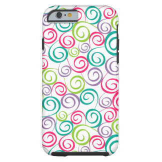 Colorful Curly Q's Phone Case