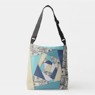 Colorful Currency Collage Crossbody Bag