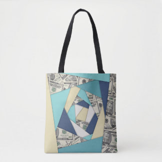 Colorful Currency Collage Tote Bag