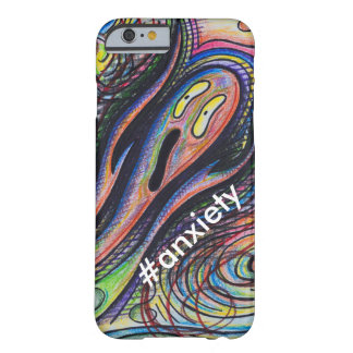 Colorful Custom Character #anxiety Cell Phone Case