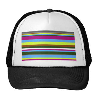 Colorful Customized Designer Stripe Trucker Hats