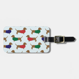 Colorful Cute Dachshunds Dogs Design Luggage Tag