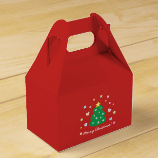 Colorful Cute Festive Merry Christmas Tree Favour Box
