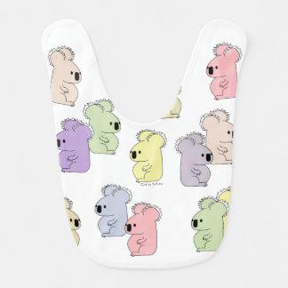 Colorful, cute koala mob baby bib