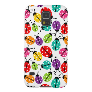 Colorful Cute Lady Bug Seamless Pattern Cases For Galaxy S5
