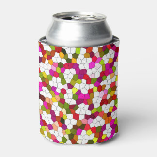 Colorful Cute Modern Trendy Pattern Can Cooler