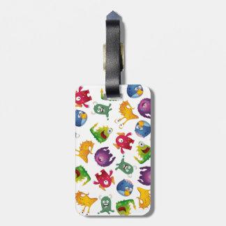 Colorful Cute Monsters Fun Cartoon Bag Tag