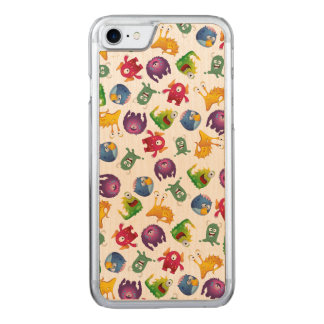 Colorful Cute Monsters Fun Cartoon Carved iPhone 8/7 Case
