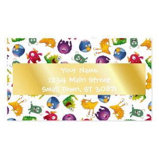 Colorful Cute Monsters Fun Cartoon Pack Of Standard Business Cards