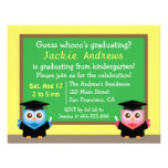 Colorful, Cute Owl Graduation, for Kids Invitations