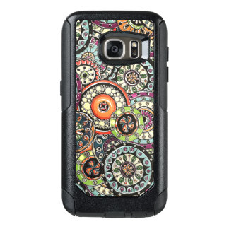 Colorful Cute Retro Chic Floral Circles Pattern OtterBox Samsung Galaxy S7 Case
