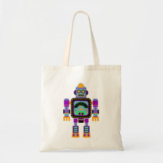 Colorful Cute Robot Tote Bag