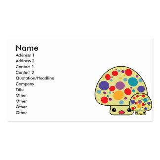 Colorful Cute Spotted Kawaii Mushroom Toadstools Business Cards