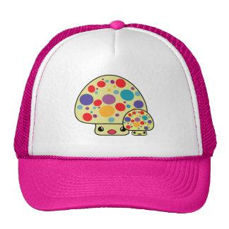 Colorful Cute Spotted Kawaii Mushroom Toadstools Trucker Hat