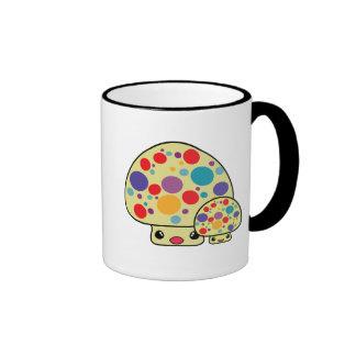 Colorful Cute Spotted Kawaii Mushroom Toadstools Coffee Mug