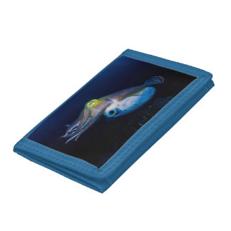 Colorful Cuttlefish on the Great Barrier Reef Tri-fold Wallet