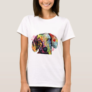 colorful Dachshund art T-Shirt