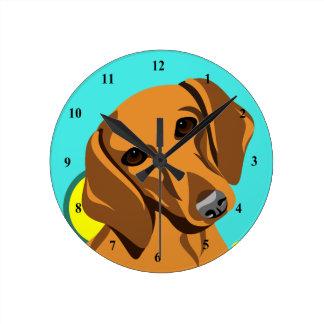 Colorful Dachshund Dog Clocks