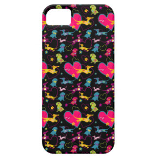 Colorful Dachshund Heart Print Barely There iPhone 5 Case