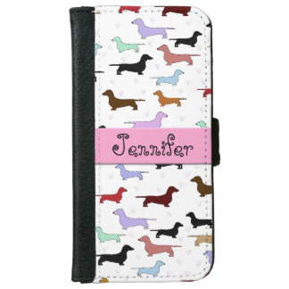 Colorful Dachshund iPhone Wallet