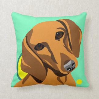 Colorful Dachshund Lover Pillows