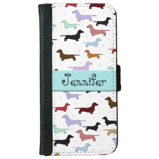 Colorful Dachshunds iPhone Wallet