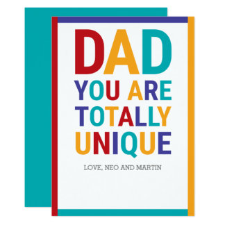Colorful Dad Card