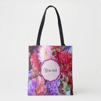 Colorful Dahlias Tote Bag
