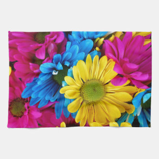 Colorful Daisies Tea Towel