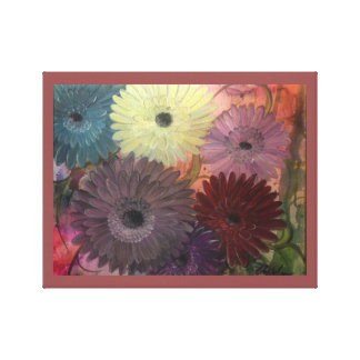 Colorful Daisy Stretched Canvas Print