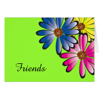Colorful Daisy Flower Corner Note Card