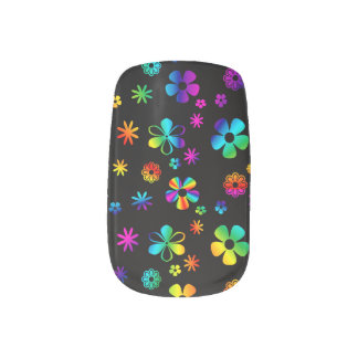 Colorful Daisy: Retro Minx Nails 2 Minx Nail Art