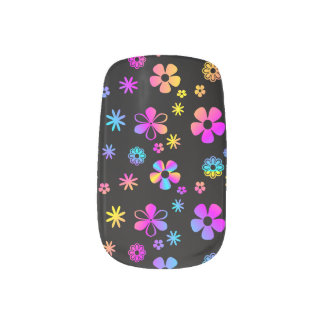 Colorful Daisy: Retro Minx Nails Nail Stickers