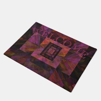 Colorful Dark Galaxy Of Blocks Artwork Doormat