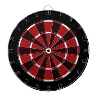 Colorful Dart Board in Black and Red